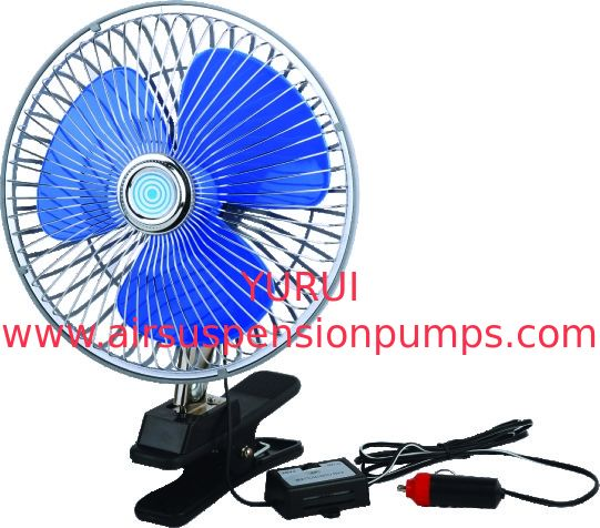 8 Inch 12V Portable Dashboard Car Cooling Fan Clip - On 2 - Speed Switch