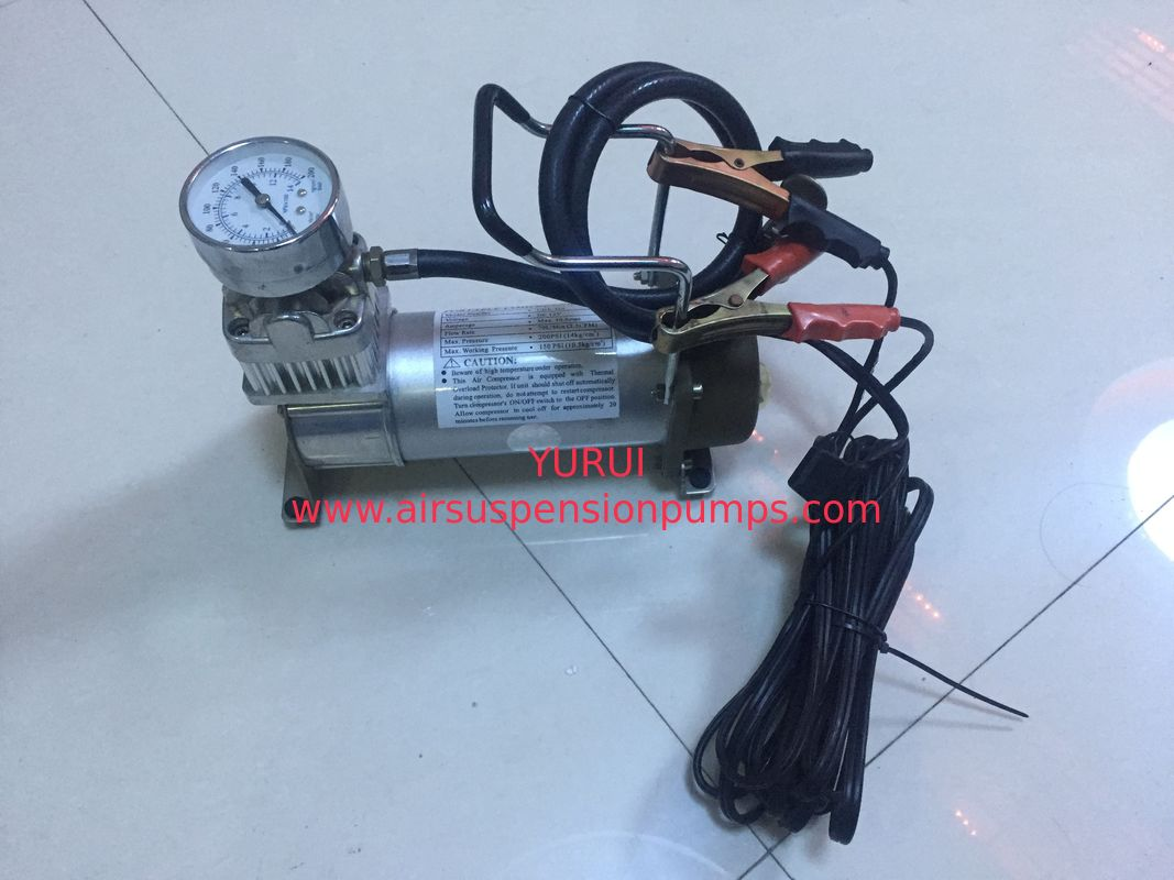 Metal Car Air Pump Compressor Single Cylinder For All Kinds Of Cars With Gauge