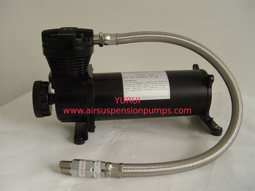 Steel Material Air Lift Suspension Compressor 70L/Min Air Flow , IP67 Moisture Resistant