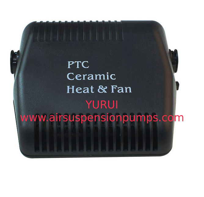 Black Fan Portable Car Heaters Plastic Material With Cool / Warm Switch