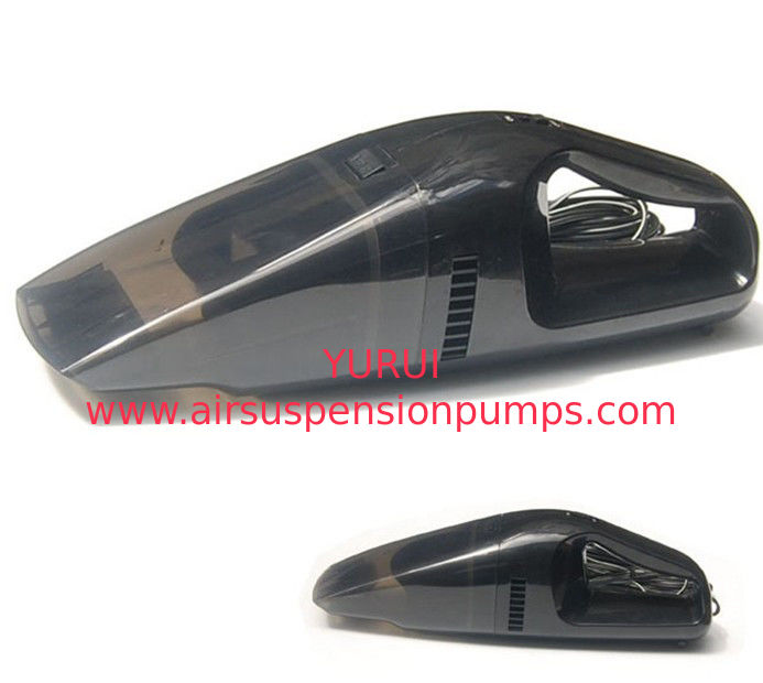Black Plastic Handheld Car Vacuum Cleaner With One Year Warranty