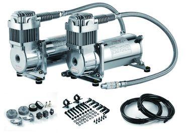 12V dubbele 200 psi-van de de Ritopschorting van de Staallucht van de de Compressor dubbele tank de luchtcompressor